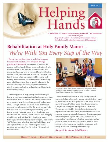 We're With You Every Step of the Way - Catholic Senior Housing ...