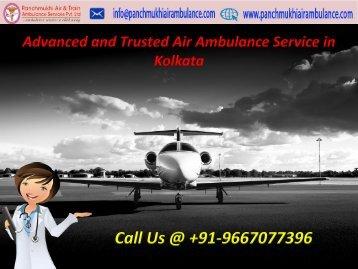 Emergency Charter Air Ambulance Service in Kolkata at Low Fare