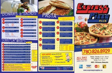 please order by number - Express Pizza Plus