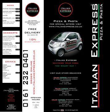 """12"""" Folded Pizza - Italian Express"""