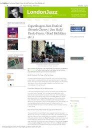Copenhagen Jazz Festival (Neneh Cherry/ Jim Hall/ Paolo Fresu ...