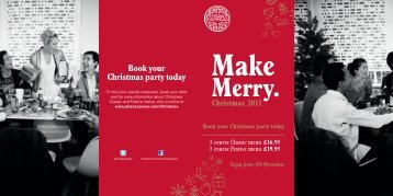 Book your Christmas party today - The Forum