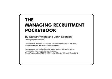 the managing recruitment pocketbook - Management Pocketbooks