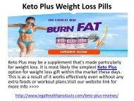 Keto Plus Weight Loss Pills