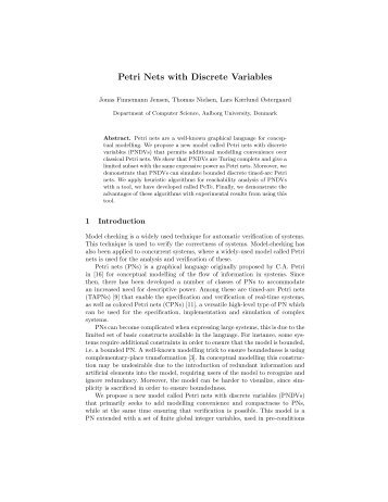 Petri Nets with Discrete Variables - Computer