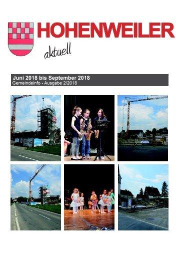 Hohenweiler aktuell Sommer 2018