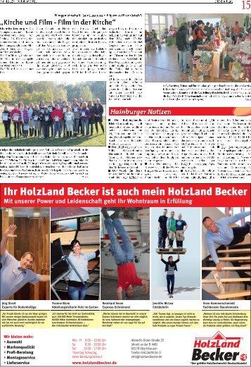 Ihr HolzLand Becker ist auch mein HolzLand Becker - Heimatbund ...