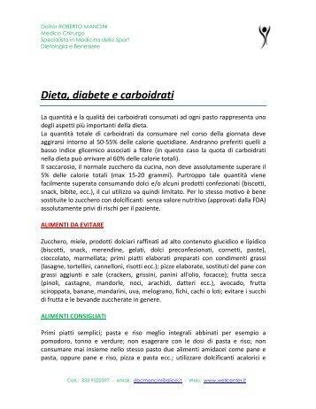 Dieta, diabete e carboidrati - Dottor Roberto Mancini