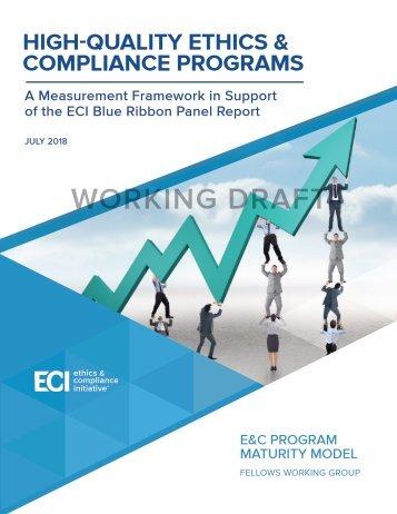 ECI Maturity Model - DRAFT