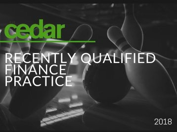 Recently Qualified Finance Practice