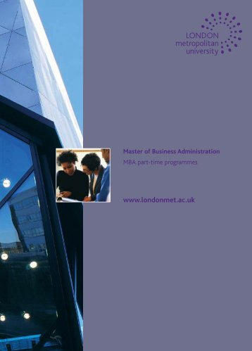 Master of Business Administration - London Metropolitan University