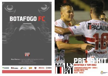 PRESS KIT: Botafogo x Tupi (MG) - Série C - 14/07/2018