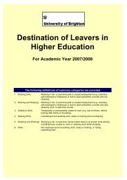 Destination of Leavers in Higher Education 2007/2008 - staffcentral ...