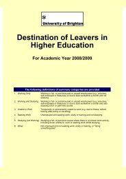 Destination of Leavers in Higher Education 2008/2009 - staffcentral ...