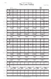 The Lost Valley Draft 1 - Score