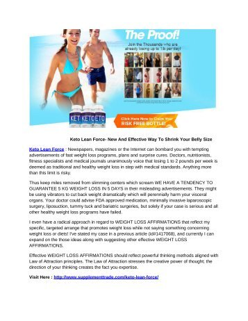 Keto Lean Force   Reviews By Experts On Weight Loss Pills