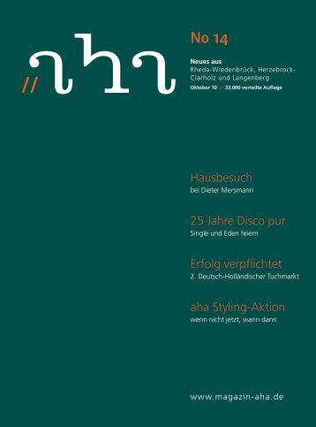 nur 6,99 ¤ Denkt an Silvester - Riesen Party! - aha-Magazin