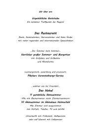 Kalt-Warmes Buffet - Gutsschänke Holsterfeld