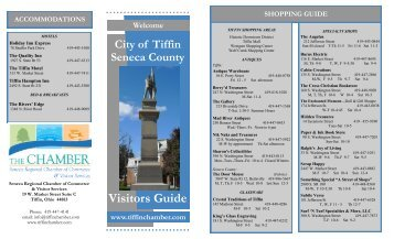 Visitors Guide - Tiffin Area Chamber of Commerce