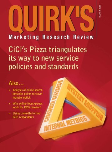 CiCi's Pizza triangulates its way to new service - Quirk's Marketing ...