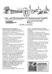 Amtsblatt vom 01.09.11 - Marktgemeinde Dombühl