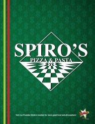FULL MENU - Spiro's Pizza & Pasta