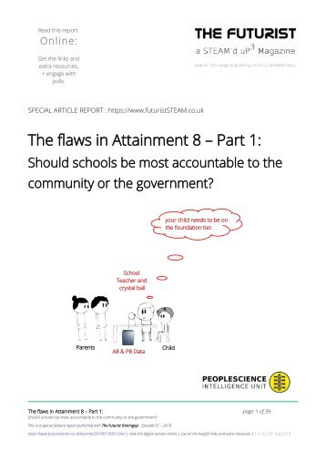 The flaws in Attainment 8 - Part 1
