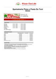 Pizza e Pasta Da Toni in 46117 Oberhausen, Bottroper ... - Pizza Taxi