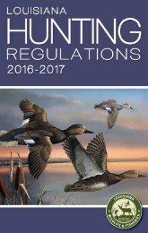Louisiana Hunting Regulations 2016-2017
