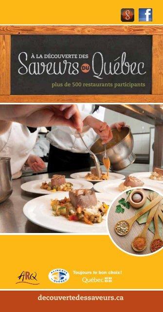 de 500 Restaurants Participants - DÉCOUVERTE DES SAVEURS ...