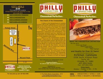 Menu Layout to Spec - Philly Connection