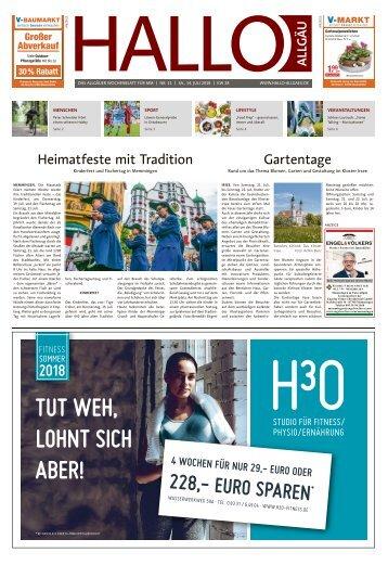 Hallo-Allgäu Memmingen vom Samstag, 14.Juli