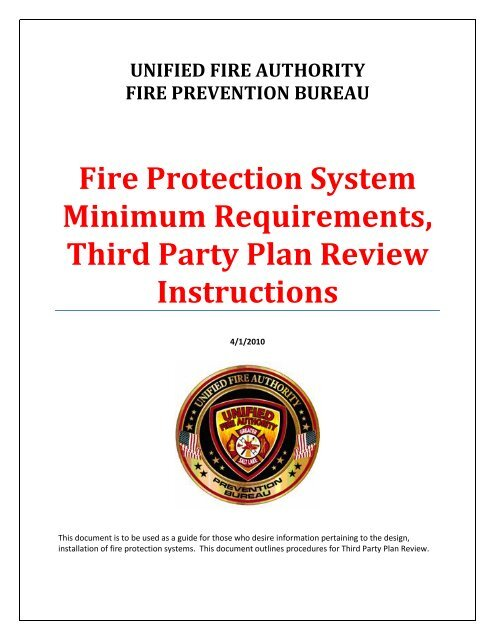 third party review instructions  - the Unified Fire Authority