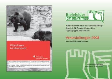 Veranstaltungen 2008 - Stiftung für die Natur Ravensberg