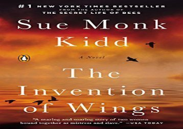 PDF Download The Invention of Wings Epub