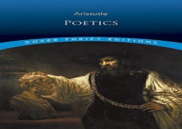 Read Online Poetics (Dover Thrift Editions) For Full