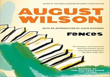 PDF Download Fences (Plume) For Kindle