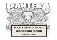 Free PDF Pantera Adult Coloring Book: Texas Groove Metal and Might of Phil Anselmo and Dimebag Darell Inspired Adult Coloring Book (Coloring Books for Adults) Epub