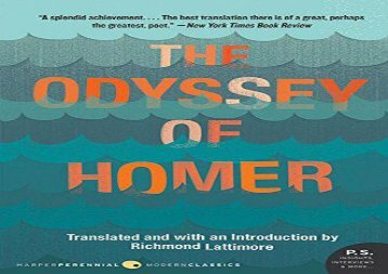 PDF Download The Odyssey of Homer Epub