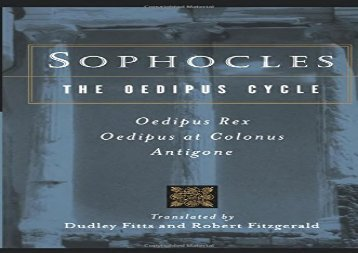 Free PDF Sophocles, the Oedipus Cycle: Oedipus Rex, Oedipus at Colonus, Antigone (Harvest Book) Epub