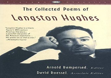 Read Online Collected Poems of Langston Hughes (Vintage Classics) For Kindle
