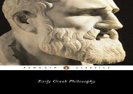 Free PDF Early Greek Philosophy (Penguin Classics) Review