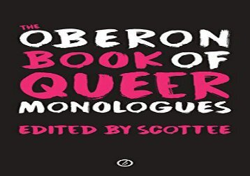 Read Online The Oberon Book of Queer Monologues Review