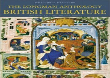 Read Online The Longman Anthology of British Literature, Volume 1A: The Middle Ages: The Middle Ages v. 1A Any Format
