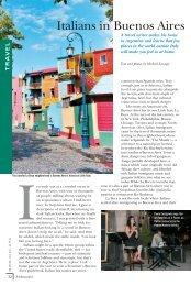 Travel: Italians in Buenos Aires