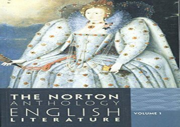 Read Online The Norton Anthology of English Literature: 1 Any Format