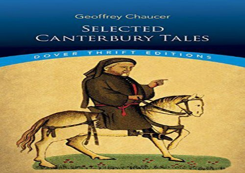 The Canterbury Tales By Geoffrey Chaucer Pdf