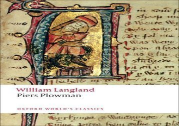 Read Online Piers Plowman A New Translation of the B-text (Oxford World s Classics) Review
