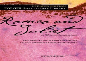 Free PDF Romeo and Juliet (Folger Shakespeare Library) Review