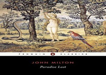 Read Online Paradise Lost (Penguin Classics) For Full
